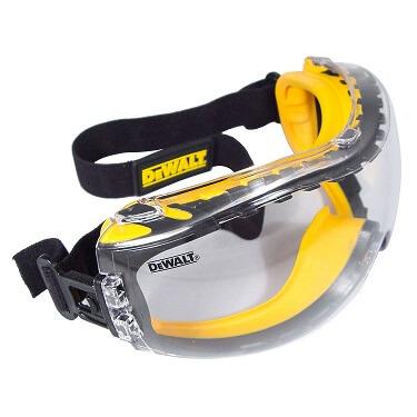 DEWALT DPG82-11/DPG82-11CTR Concealer Clear Anti-Fog Dual Mold Safety Goggle